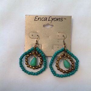 Erica Lyons Green Dangle Earrings